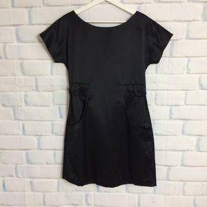Kate Spade Black Pocket Bow Dress Silk Medium